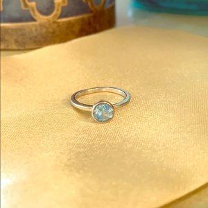 Sterling Silver w/ Blue Topaz Ring